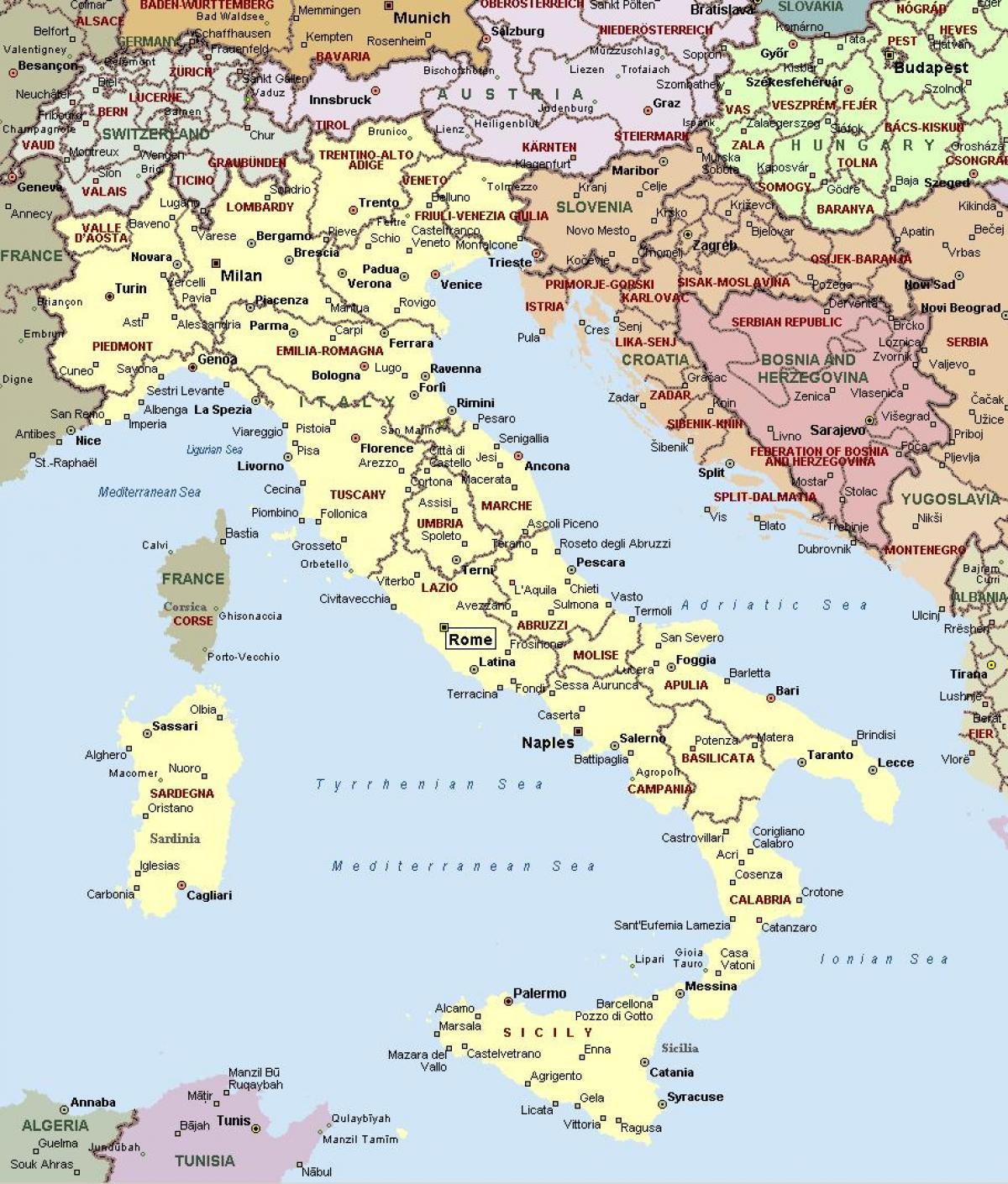 kart over italia Vest kysten av Italia kart   Kart over Italia vestkysten (Sør  kart over italia